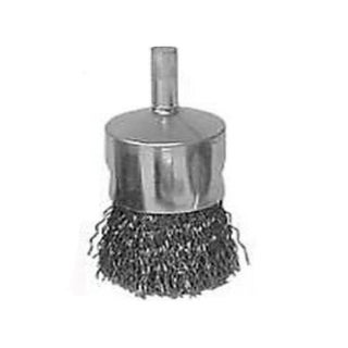 Weiler 36047 Crimped Solid End Wire Brush, 3/4""