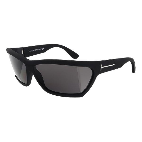 Tom Ford FT0401/S  02A Sasha Matter Black Rectangle Sunglasses - 59-13-125