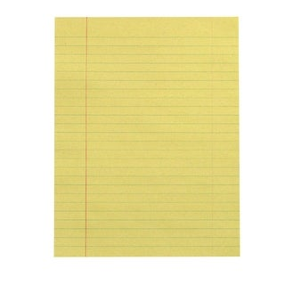 School Smart Newsprint Paper with Red Margin, 8 x 10-1/2 Inches, Yellow, 500 Sheets