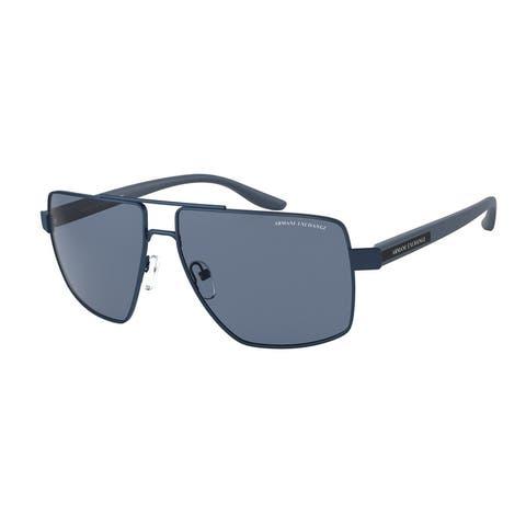 Armani Exchange AX2037S 609580 60 Matte Blue Man Irregular Sunglasses