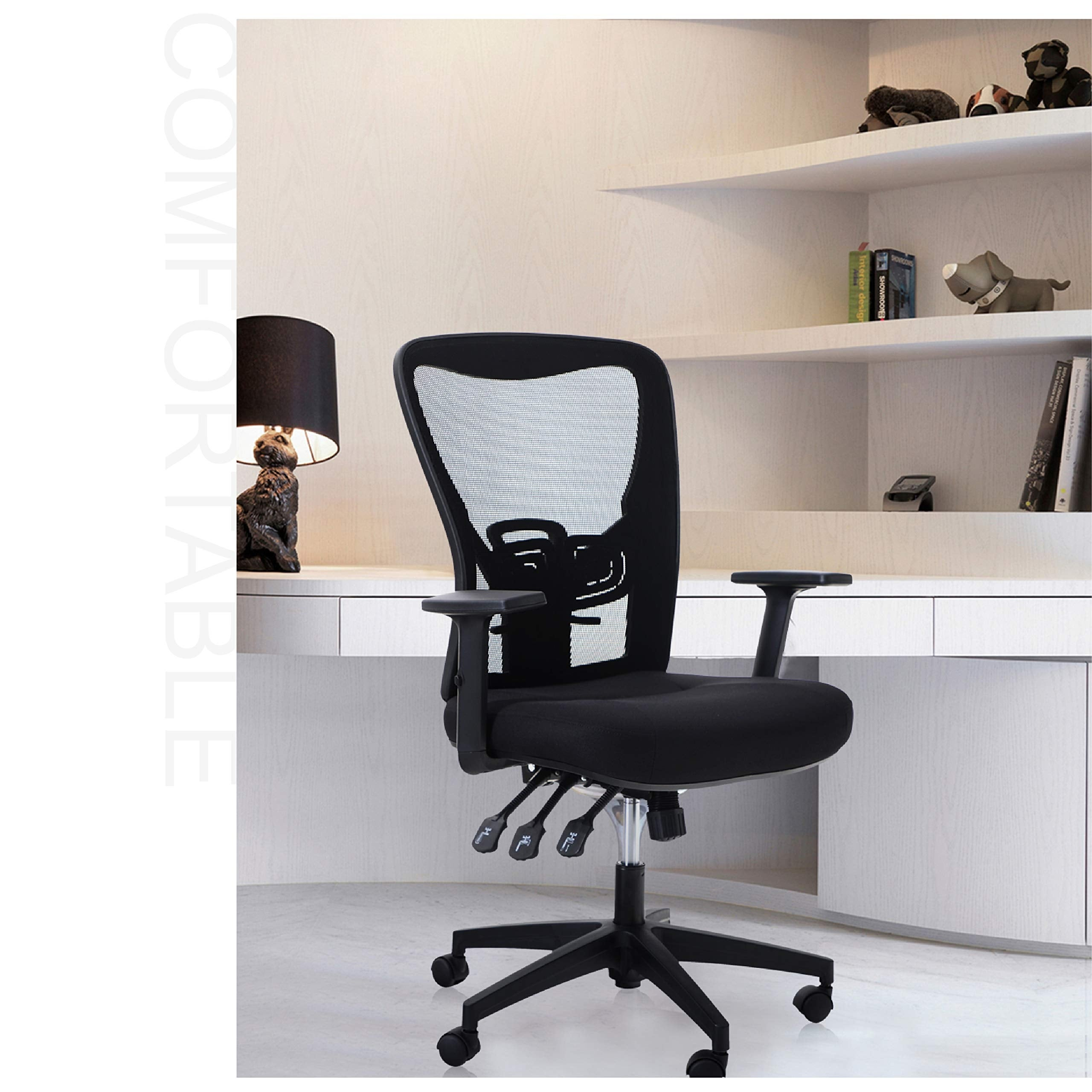 Shop Alpha Home Office Chair Ergonomic Home Desk Chair Mesh With Adjustable Armrest Seat Cushion Rolling Swivel Reclining Chair Overstock 32354075