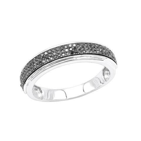 Men's Wedding Band Round Diamond Ring 0.28ctw in 14k Gold by Luxurman