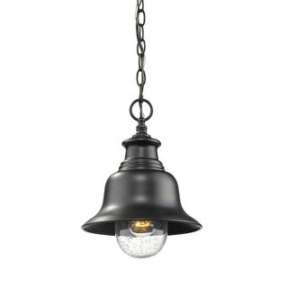 "Millennium Lighting 2514 Single Light 9"" Wide Outdoor Mini Pendant with Glass Shade"