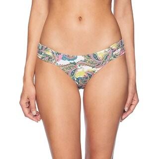 OndadeMar Women Orissa Swimwear Printed Bikini Bottom, Multi, S - Small