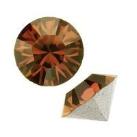 Swarovski Crystal, 1088 Xirius Round Stone Chatons ss24, 12 Pieces, Smoked Topaz