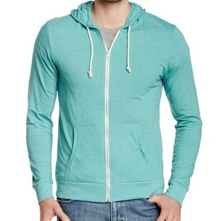 Threads 4 Thought NEW Light Blue Mens Large L Hooded Full Zip Sweater