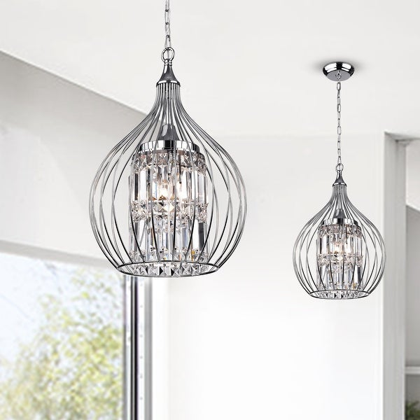 Acatia 3-light Chrome Foyer Pendant. Opens flyout.