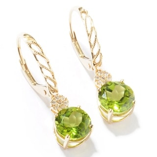 Link to 14KT Gold Peridot and Diamond Earring Similar Items in Earrings