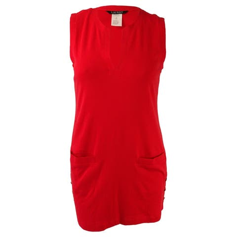 Lauren Ralph Lauren Women's Sleeveless Cotton Cover-Up