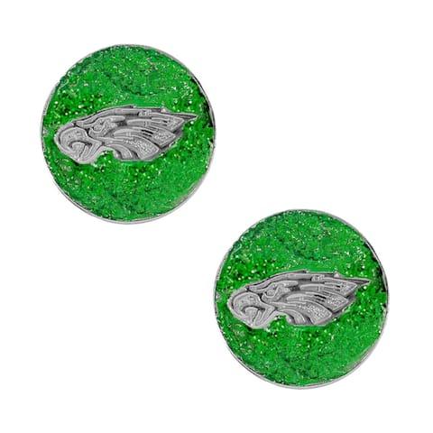 Philadellphia Eagle Glitter Sparkle Post Stud Logo Earring Set Charm Gift - Not Available