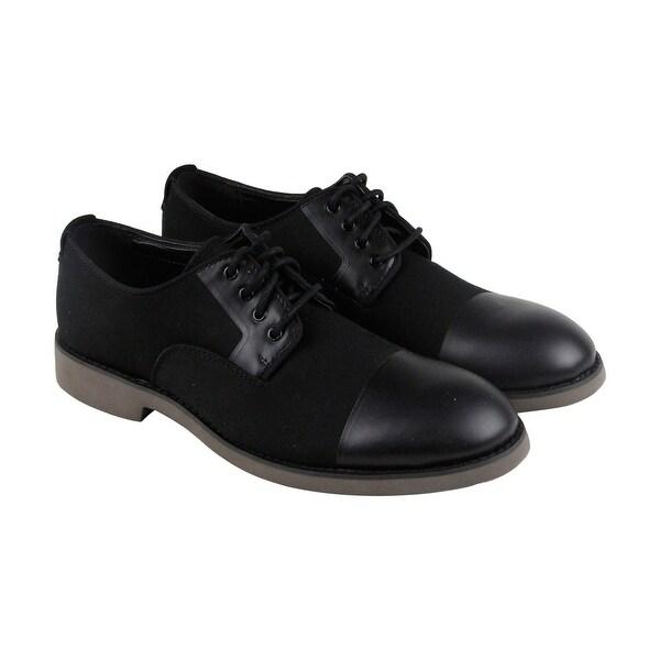 Calvin Klein Corbin Mens Black Textile Casual Dress Slip On Oxfords Shoes