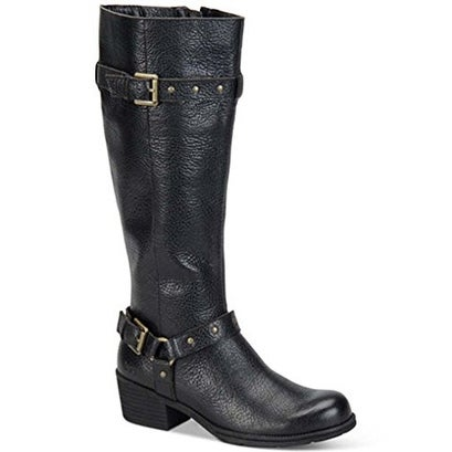 Born Women's Cam Leather Tall Black Boots