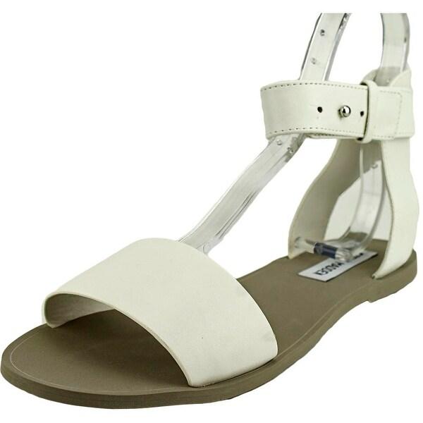 Steve Madden Evict Women Open Toe Synthetic White Gladiator Sandal