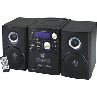 """Supersonic SC-807 Supersonic SC-807 Micro Hi-Fi System - iPod Supported - CD Player, Cassette Recorder - 1 Cassette(s) - AM, FM"