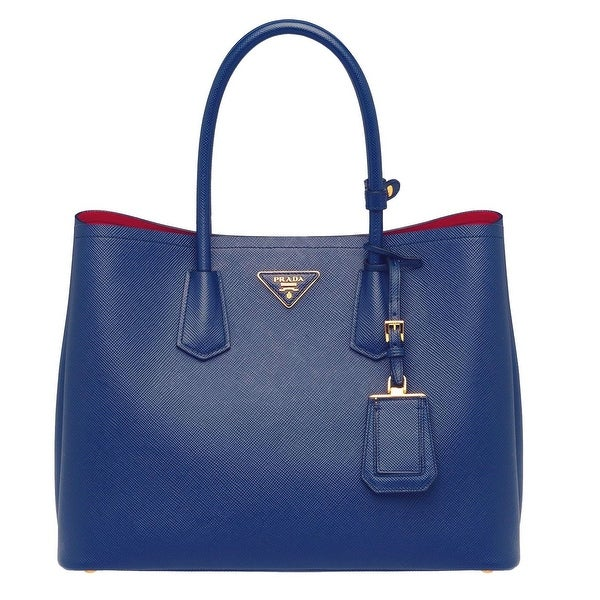 Prada Saffiano Leather Tote Handbag Cornflower Blue