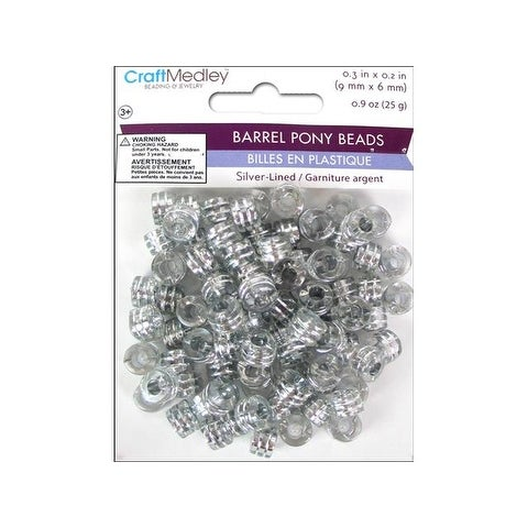 Multicraft Pony Bead 9x6mm 25gm Barrel Crystal