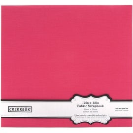 Colorbok Pink Fabric Scrapbook Album, 12 by 12-Inch