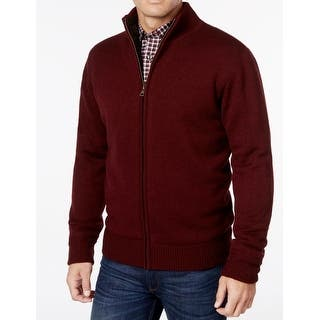 Weatherproof NEW Red Port Mens Size Medium M Full Zip Solid Sweater|https://ak1.ostkcdn.com/images/products/is/images/direct/e840287e6fddd047c7d36cf935569cf5b4ef4693/Weatherproof-NEW-Red-Port-Mens-Size-Medium-M-Full-Zip-Solid-Sweater.jpg?impolicy=medium