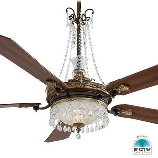 "MinkaAire Cristafano 5 Blade 68"" Ceiling Fan - Light, Wall Control and Blades Included"