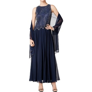 J Kara Womens Evening Dress 2PC Chiffon - 12
