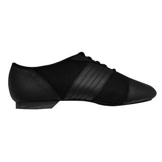 Sansha Adult Black Leather Rubber Split Sole San Luis Jazz Shoes Womens