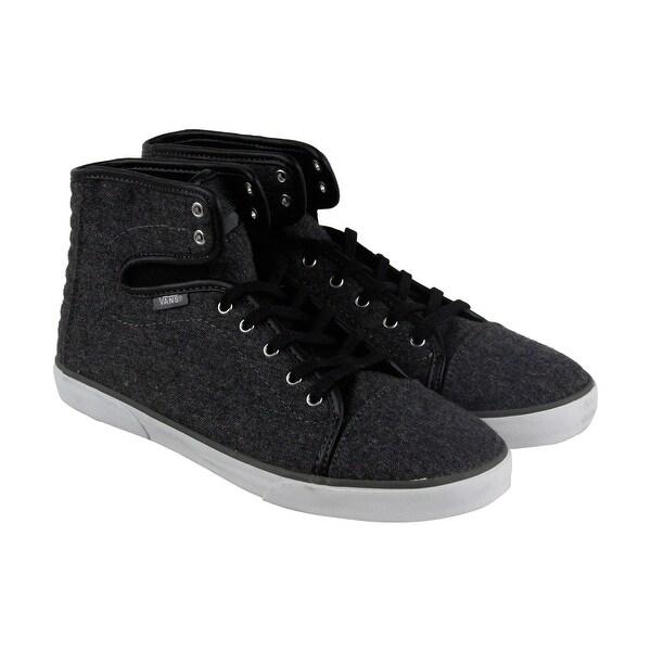 5b932c792a Shop Vans Hadley Womens Black Canvas High Top Lace Up Sneakers Shoes ...