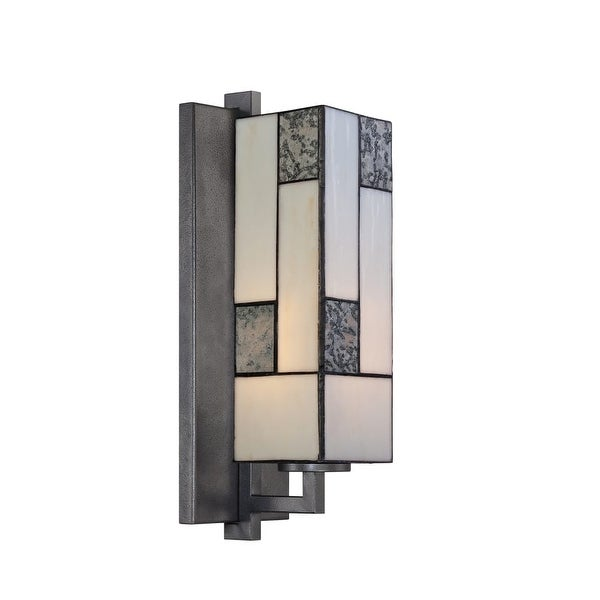 Designers Fountain 84101 1 Light Bathroom Fixture from the Bradley Collection - charcoal