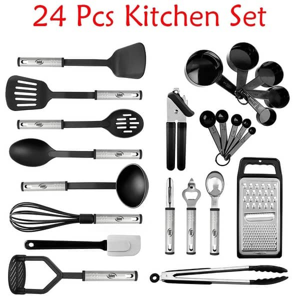 Shop Kitchen Utensil set - Nylon / Stainless Steel Cooking ...