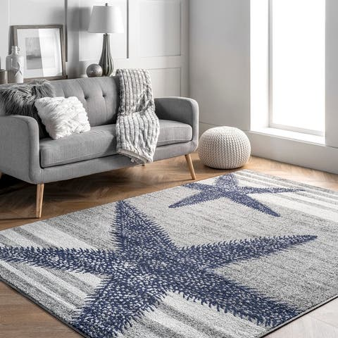 nuLOOM Made by Thomas Paul Starfish and Stripes Area Rug