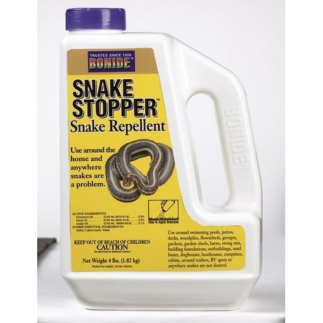 Bonide 875 Snake Stopper Repellent Lawn Yard Snake Repellent & Treatment, 4 LB