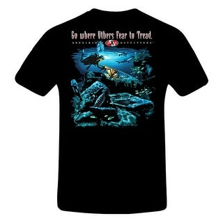 Amphibious Outfitters Baddest Frog in the Pond T-Shirt for Scuba Divers - Black