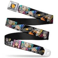 Soul Eater Logo Full Color Black Orange Seatbelt Belt Soul Eater Seatbelt Belt