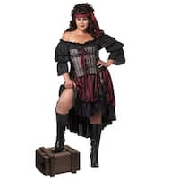 California Costumes Pirate Wench Plus Size Costume - Black