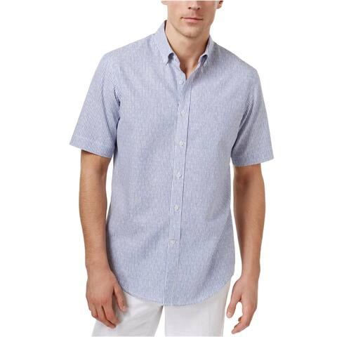 Club Room Mens Dot Dash Button Up Shirt