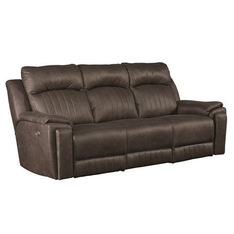 Silver Screen Double Reclining Sofa w/ Pwr Headrests, Hidden Cupholders and USB