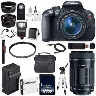 Canon EOS Rebel T5i 18 MP CMOS Digital SLR Camera with EF-S 18-55mm Lens + Canon EF-S 55-250mm Lens Bundle (International Model)