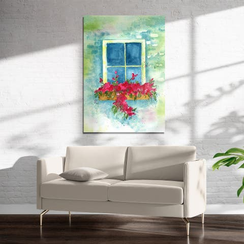 COTTAGE WINDOW Art on Acrylic By Kavka Designs