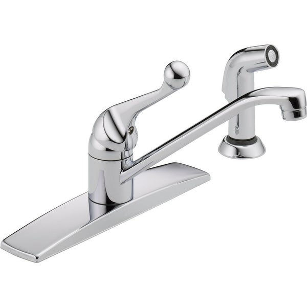 Delta 400lf Wf Single Handle Kitchen Faucet With Spray Chrome Free Shipping Today 16810313