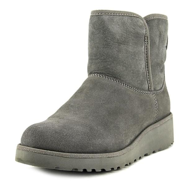59109a19db9 Shop Ugg Australia Kristin Women Round Toe Suede Gray Boot - Free ...
