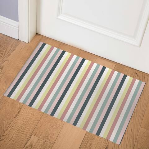 TILLY DEWY MORNING STRIPE Indoor Floor Mat by Kavka Designs