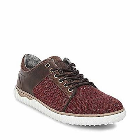 Steve Madden Mens Quill Leather Low Top Lace Up Fashion Sneakers