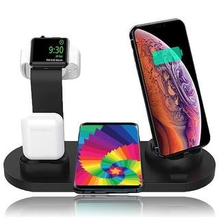 (10w)Universal Wireless Charging Pad, SmartPhone Rotating Base(iOS,USB-C,microUSB) & Dedicated Docks for EarPod / iWatch