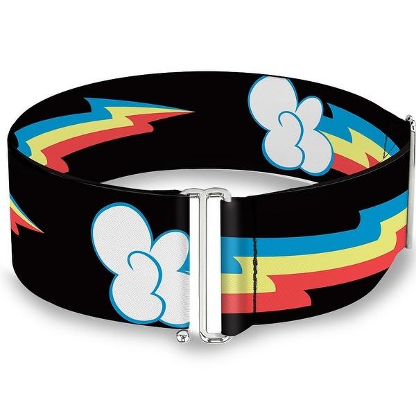 Mlp Rainbow Dash Lightning Bolt Black Cinch Waist Belt ONE SIZE