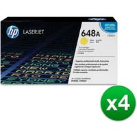 HP 648A Yellow Original LaserJet Toner Cartridge (CE262A)(4-Pack)