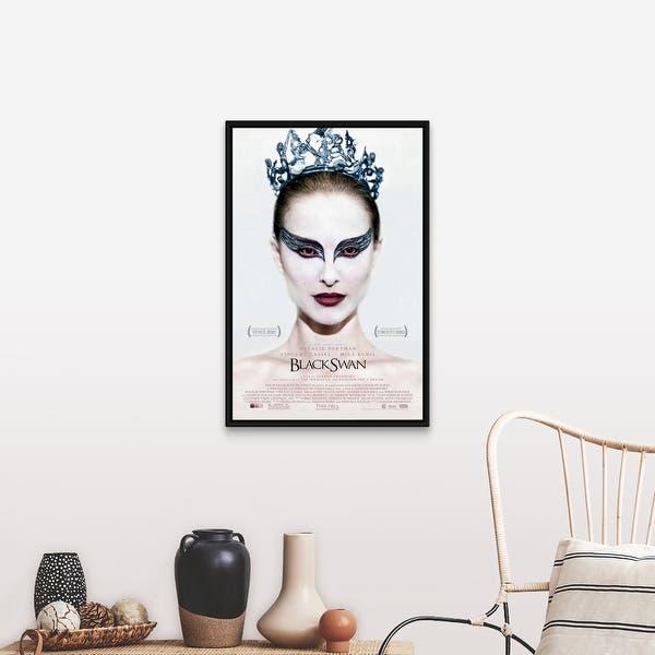 Shop Black Swan 2010 Black Float Frame Canvas Art Overstock 25520863