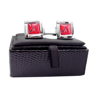 MLB Arizona Diamondbacks Square Cufflinks with Square Shape Logo Design Gift Box Set