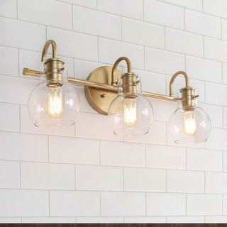 "Link to Modern Bathroom Wall Sconces Gold Vanity Lighting for Powder Room - L22""x W7""x H9"" - L22""x W7""x H9"" Similar Items in Sconces"