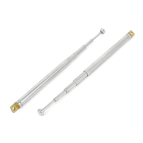 Unique Bargains Transmitter FM Radio TV Remote 5 Sections Telescopic Aerial Antenna 228mm 2PCS