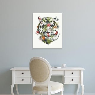 Easy Art Prints Robert Farkas's 'Tropical Tiger' Premium Canvas Art