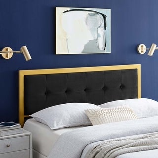 Link to Teagan Tufted Twin Performance Velvet Headboard Similar Items in Bedroom Furniture